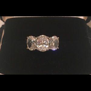 Vintage JED 10K White Gold Promise Ring